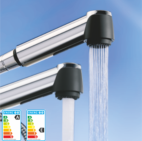 AquaClic Cuisine- water-saving kitchen faucet heads