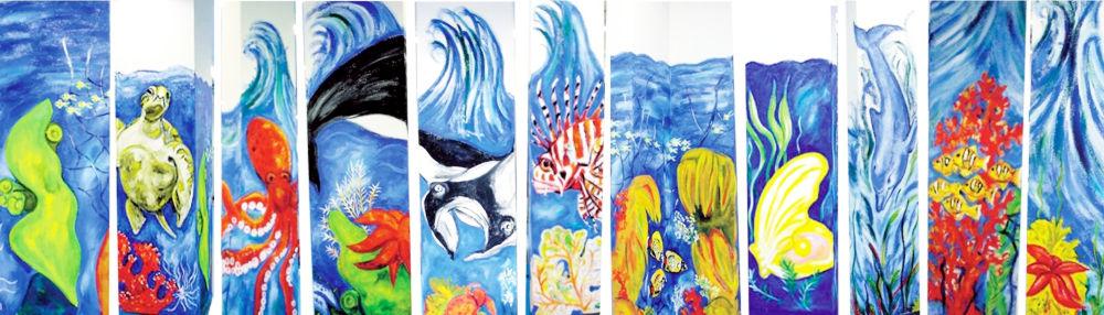 S�ulen aus dem Werk der Aqua Art AG, Hersteller von Wassersparern