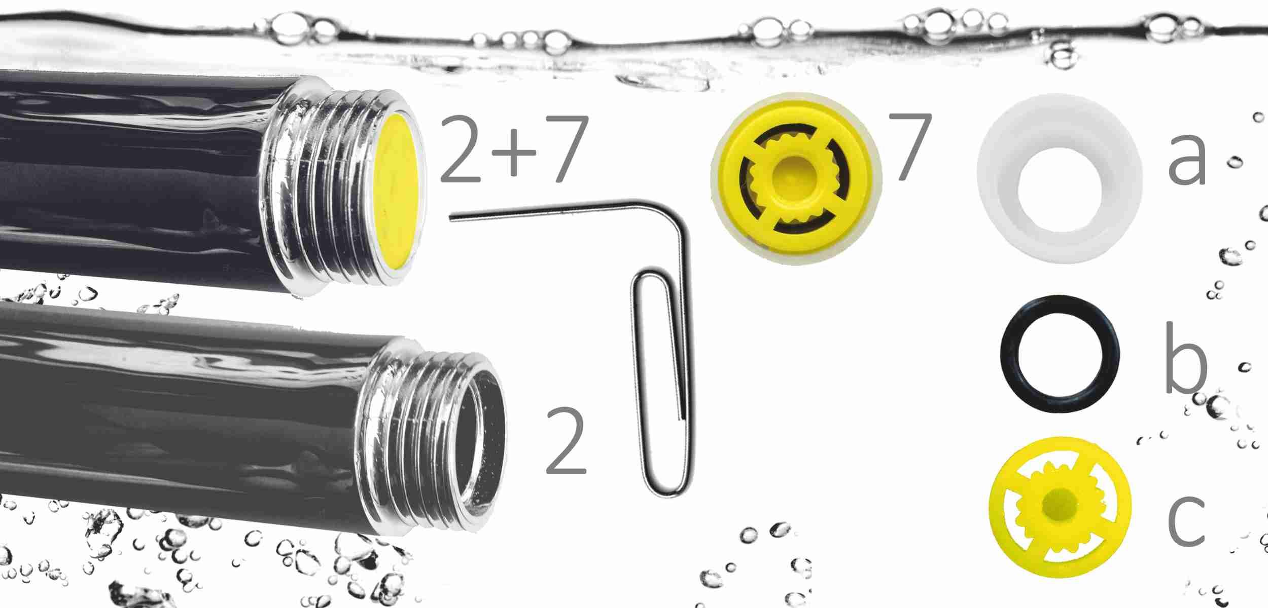 Anleitung Wassermengenregler entfernen