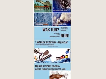 Infographic Wassersparen