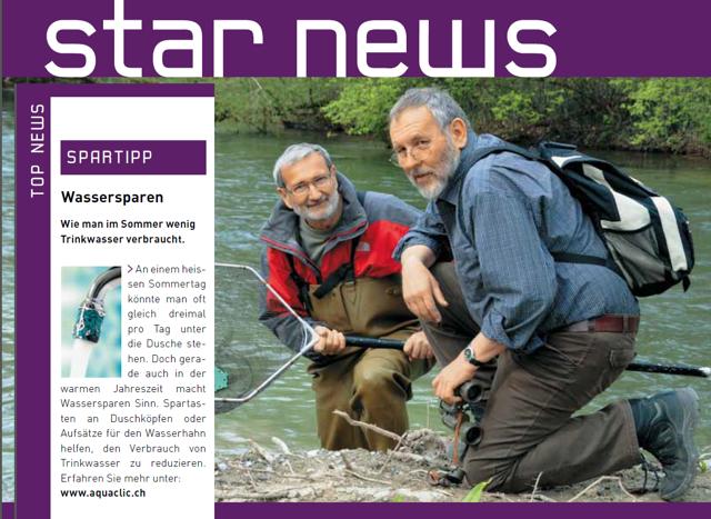 «Wie man im Sommer wenig Trinkwasser verbraucht» in der BKW-Zeitschrift «Starnews»