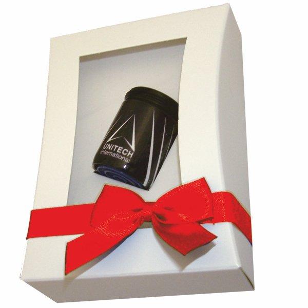 Individueller AquaClic «Unitech» als Geschenk in box mit roter Satinschleife