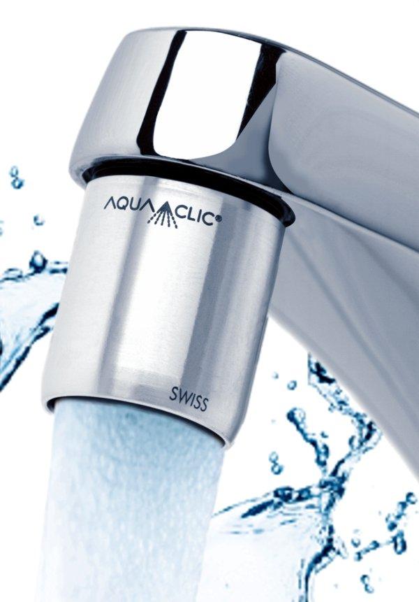 Wasserspar-Strahlregler Pur am Wasserhahn: sanfter Strahl, halb so viel Wasser und energie