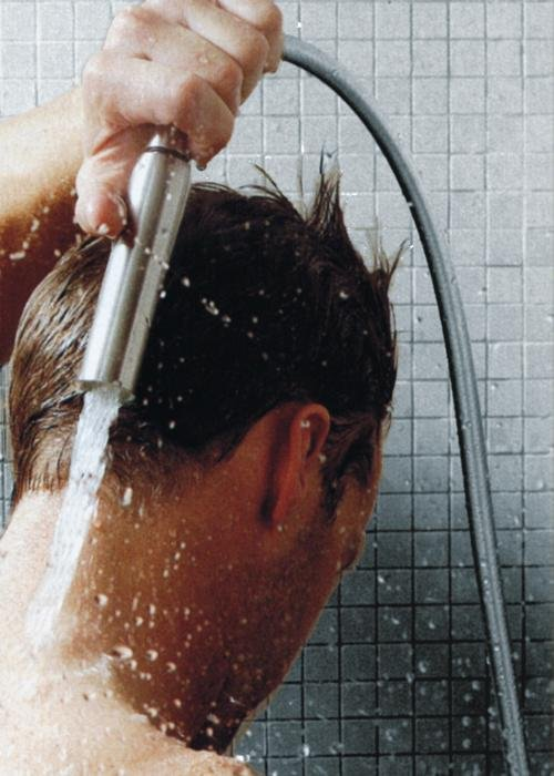 Kneipp-Strahl  – bei abgeschraubtem Kopfteil