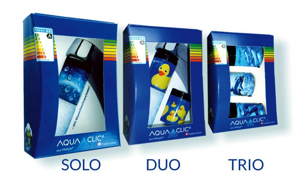 Verpackung für 1, 2 oder 3 AquaClic-Strahlregler