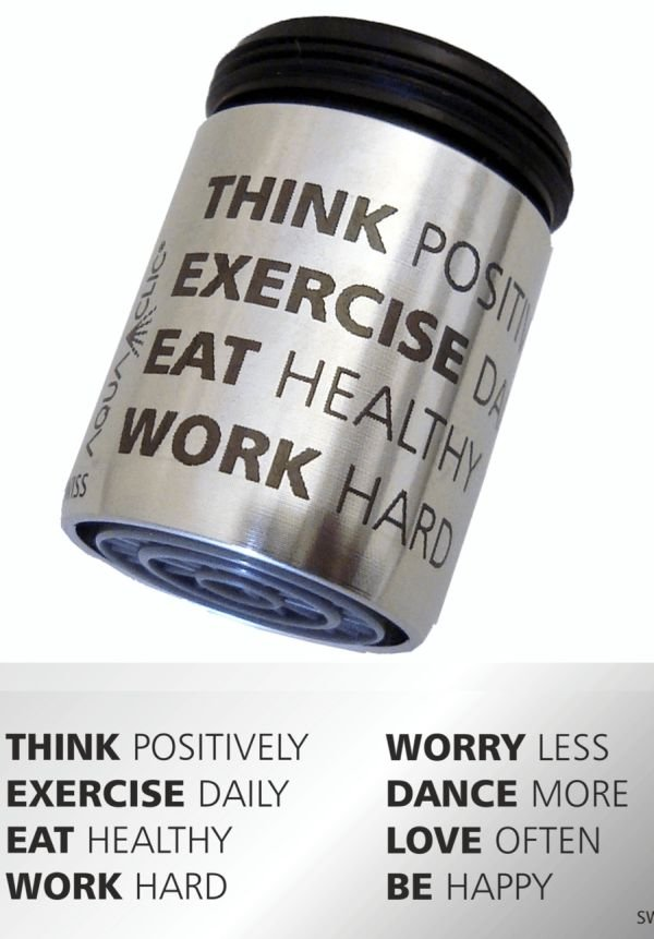 AquaClic Inox Think Positively, Excercise Daily…