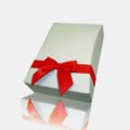 Gift box, red ribbon