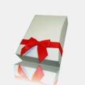 Gift box, red ribbon